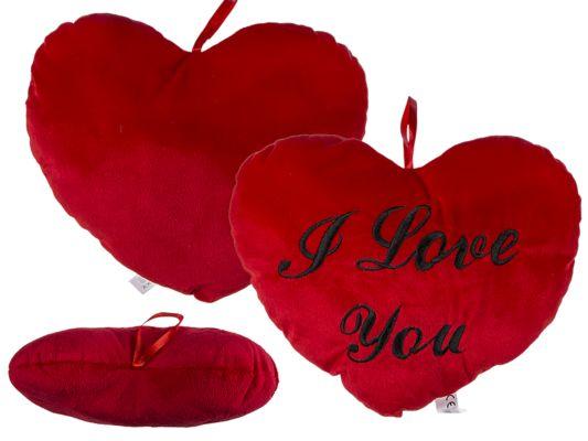 Kussen I Love You 35x35cm rood