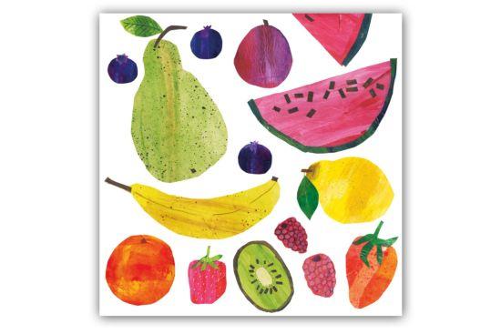 Servet Tutti Frutti 33x33cm multicolor 20 stuks