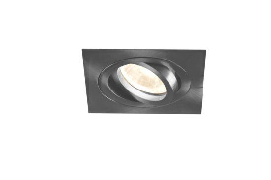 Inbouwspot LED vierkant brushed aluminium 5W GU10