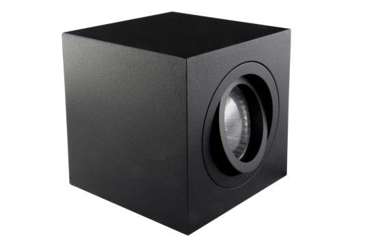 Opbouwspot vierkant 50W GU10 zwart