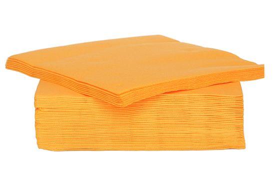 Servet CT Prof 25x25cm oranje, 40 stuks