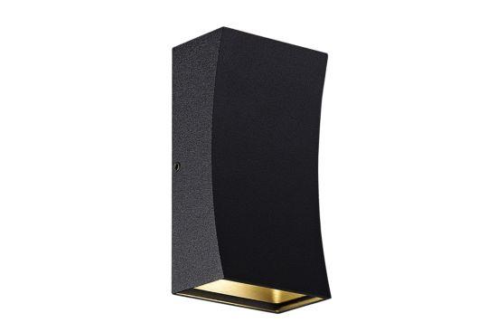 Wandlamp zwart 2x3W CREE LED