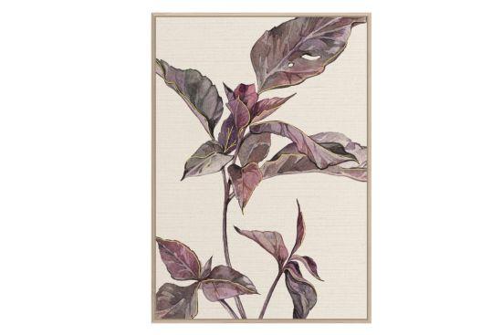 Foto met kader Leaves 62,6x92,6cm