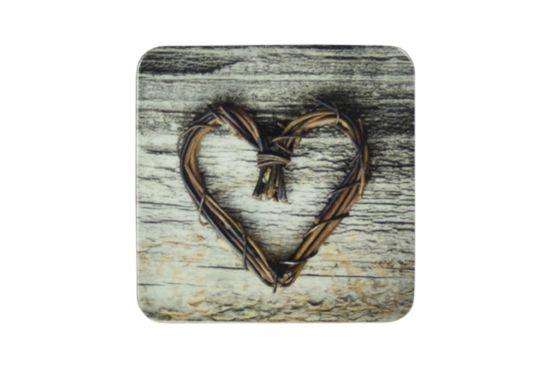 Onderzetters voor glazen Heart 10x10cm, set van 6