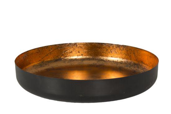 Schaal Obsidian koper Ø45cm