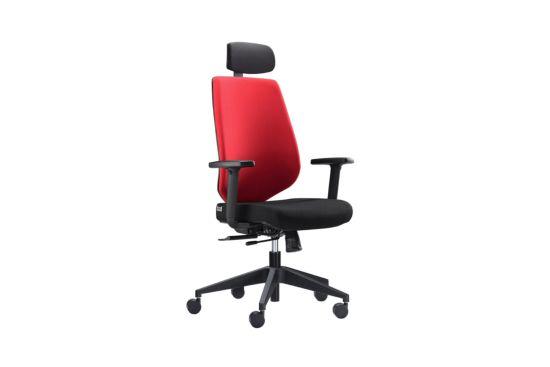 Bureaustoel Newton zwart rood