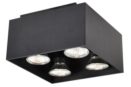 LED spot met 4 spots 5W GU10 zwart