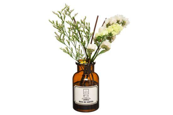 Geurstokjes Verstuiver met gedroogde bloemen H10,5cm
