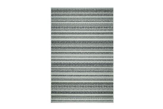Buitentapijt Brighton  160x230cm flatweave zwart ecru