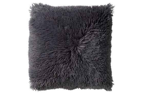 Kussen Fluffy 60x60cm charcoal grey
