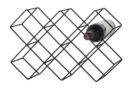 Wijnrek Nero 43x15x28,5cm