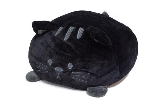 Kussen Kitty 33x20cm zwart