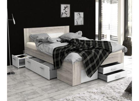 Bed 140x200cm wit