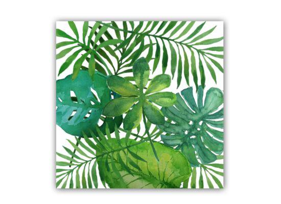 Servet Feuilles Tropical 25x25cm groen 20 stuks