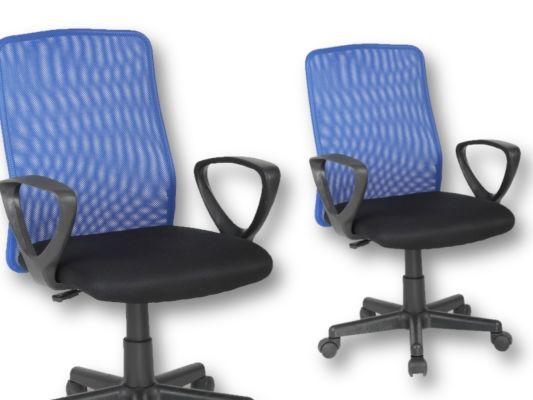 Bureaustoel Mosquito blauw zwart
