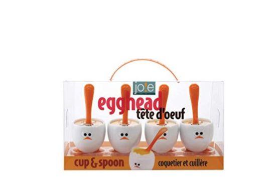 Eierdopje Egghead set van 4