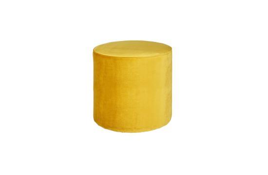 Poef Ø46cm stof geel