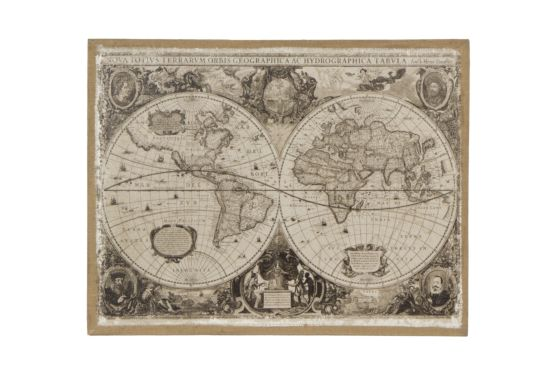 Canvas doek Wereldkaart Globe 71x91,5cm