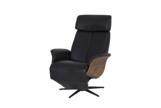 Relaxzetel Relax 7602 elektrisch leder zwart