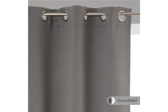 Gordijn verduisterend 135x240cm grijs set van 2