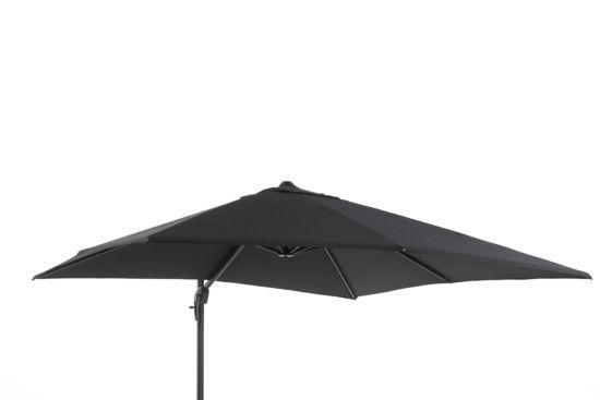 Zweefparasol 300x300cm zwart