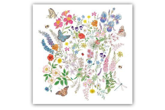 Servet Nature Romance 33x33cm multicolor 20 stuks
