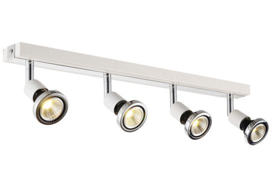 LED spot met 4 spots 5W GU10 chroom wit