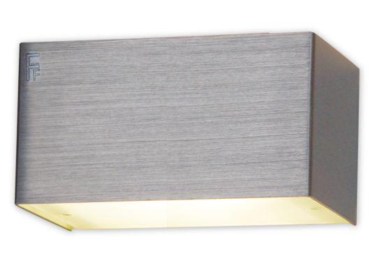 Wandlamp geborsteld aluminium 2,5W G9