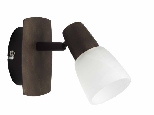 Wandlamp Milos oud koper wit 40W E14