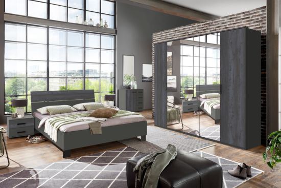 Slaapkamer Goteborg met bed 160x200cm - kleerkast 225cm