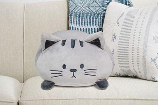 Kussen Kitty 33x20cm grijs