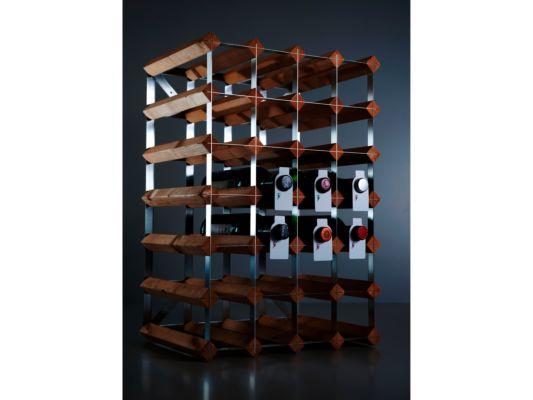 Wijnrek Wijnrek Hout Massief Metaal 61,50x23x42