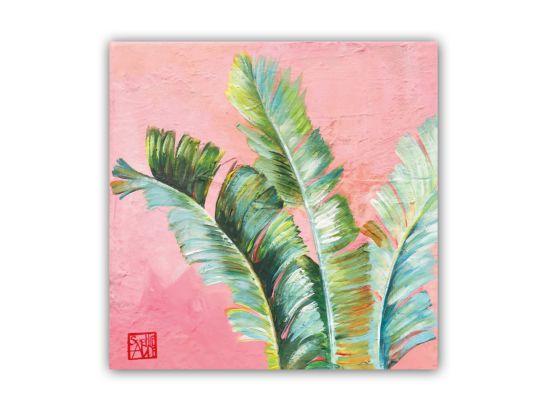 Servet 25x25cm roze/groen 20 stuks