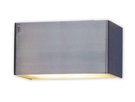Wandlamp geborsteld staal 2,6W G9