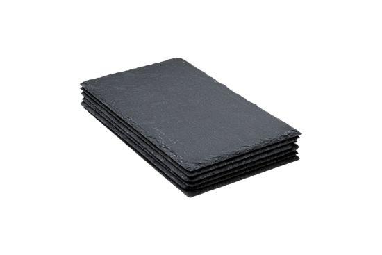 Leisteen bord 18x30cm, set van 6