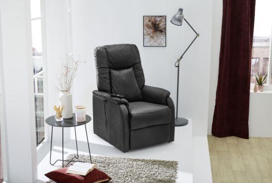 Relaxzetel Furth elektrisch zwart  elektrisch powerlift