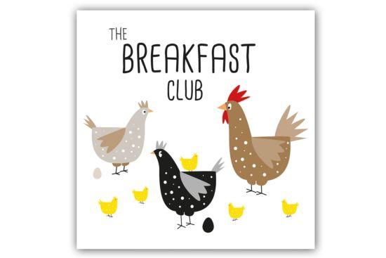 Servet Breakfast Club 33x33cm multicolor 20 stuks