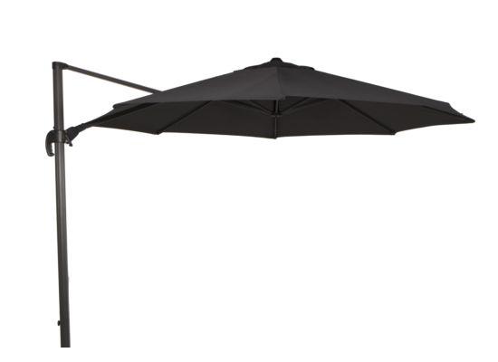 Zweefparasol Ekaterini 350cm antraciet met beschermhoes
