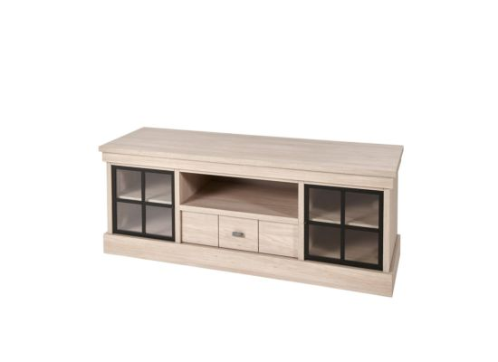 Landelijk tv-meubel glas 156cm