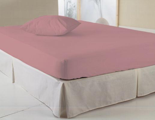 Hoeslaken 140x200cm katoen roze