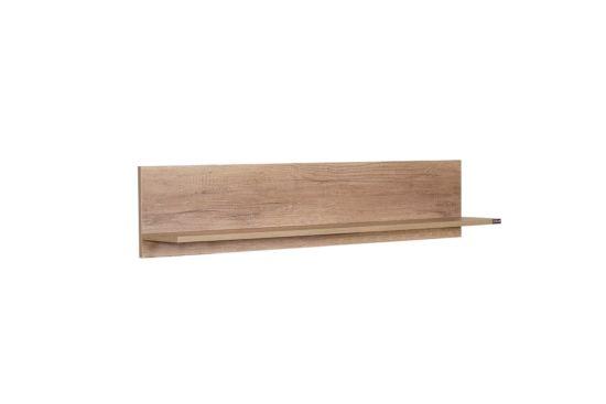 Wandplank Melbourne 120x20x25cm bruin