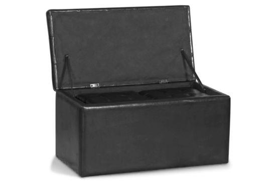 Opbergkoffer Pirana 85x45x45cm inclusief 2 poefs  lederlook