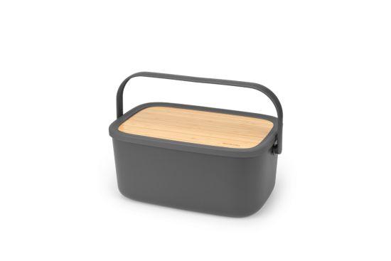 Broodtrommel Nic donkergrijs