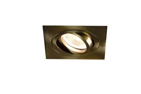 Inbouwspot LED vierkant brons 5W GU10