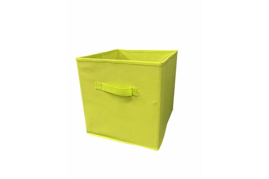 Opbergbox Moby 27,5x27,5x29cm lime
