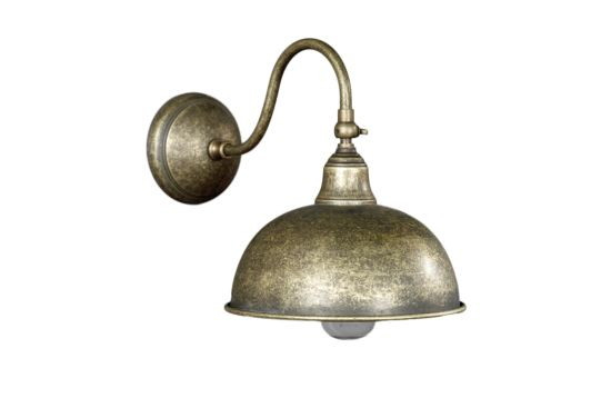 Wandlamp Antiek goud 60W E27