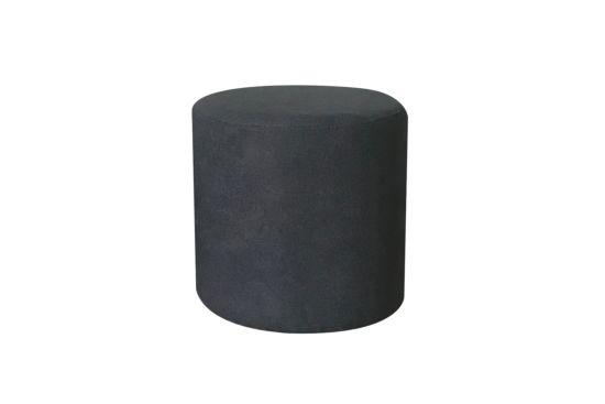 Poef Lofoten  Ø38cm stof grijs