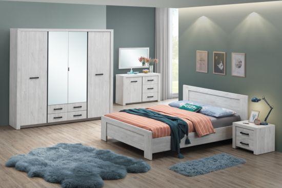 Slaapkamer Elvis met bed 140x200cm - kleerkast 218cm