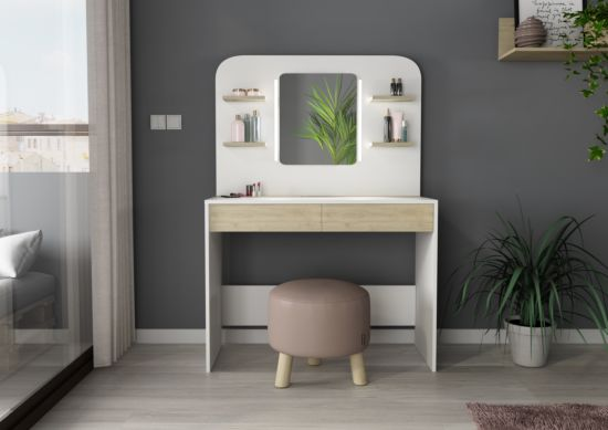 Make-up tafel Secret met spiegel 100x42x142cm