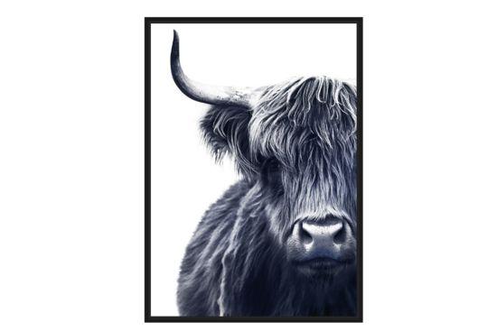 Foto op canvas Bison 80x120cm